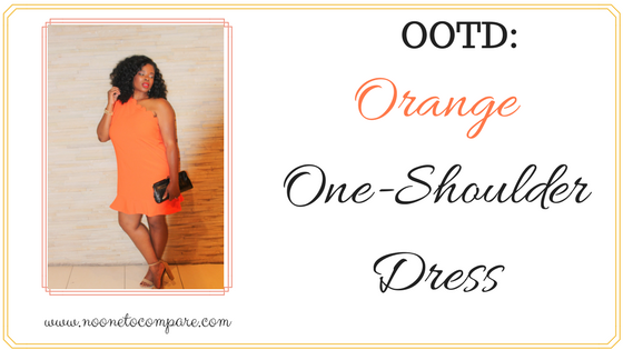 OOTD: Orange One Shoulder Dress
