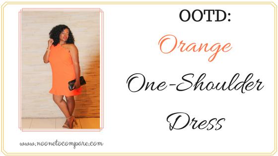 OOTD: Orange One ShoulderDress