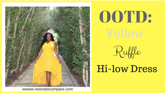 OOTD: Yellow Ruffle Hi-Low Dress