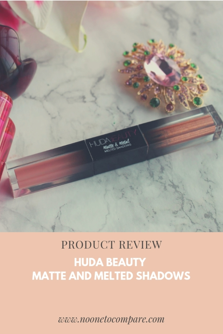 Product Review: Huda Beauty Matte and Melted Shadow